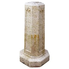American Victorian Glazed Terracotta Garden Pedestal Sundial