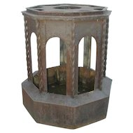 Large Victorian Cast and Wrought Iron Sculpture Base or Garden Pedestal
