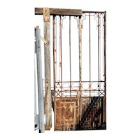 Grand Argentine Beaux Arts Wrought Iron Arboretum Double Door / Gate