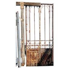 Grand Argentine Beaux Arts Wrought Iron Arboretum Double Door / Gate