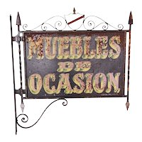 Spanish Wrought Iron Furniture Trade Bracket Sign