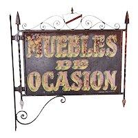 Spanish Wrought Iron Furniture Trade Bracket Sign