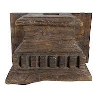 Hand Carved Solid Teak Architectural Pilaster Capital