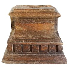 Indian Mughal Teak Architectural Pilaster Capital