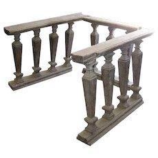 Three-Piece Portuguese Baroque Period Chestnut Altar Railing