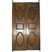 Anglo Indian Solid Teak Paneled Double Door