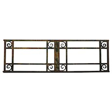 French Iron Rectangular Window Grille Transom