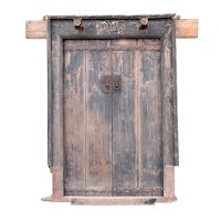 Chinese Shanxi Province Elm Double Door and Frame