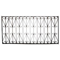 Spanish Wrought Iron Window Grille Panel
