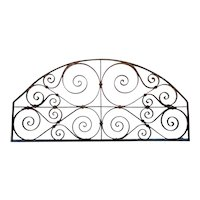 French Colonial Wrought Iron Arched Transom Grille