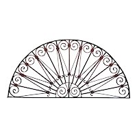 French/Spanish Wrought Iron Arched Transom Grille