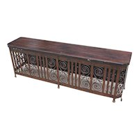 Spanish Style Art Deco Wrought Iron Radiator Cover