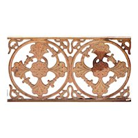 English Victorian Cast Iron Balcony Railing Panel