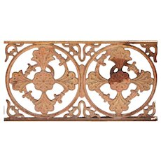 English Victorian Cast Iron Balcony Railing Panel