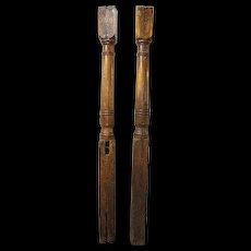Pair of Early Danish Oak Columns