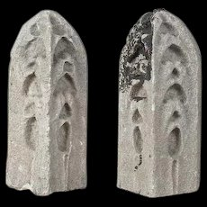 Pair of American Gothic Revival Limestone Architectural Finials