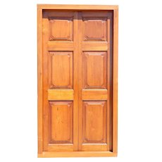 Large Anglo Indian Solid Teak Double Door with Frame
