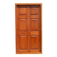Large Anglo Indian Solid Teak Paneled Double Door with Frame
