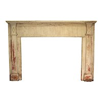 Small American White Painted Pine Fireplace Surround