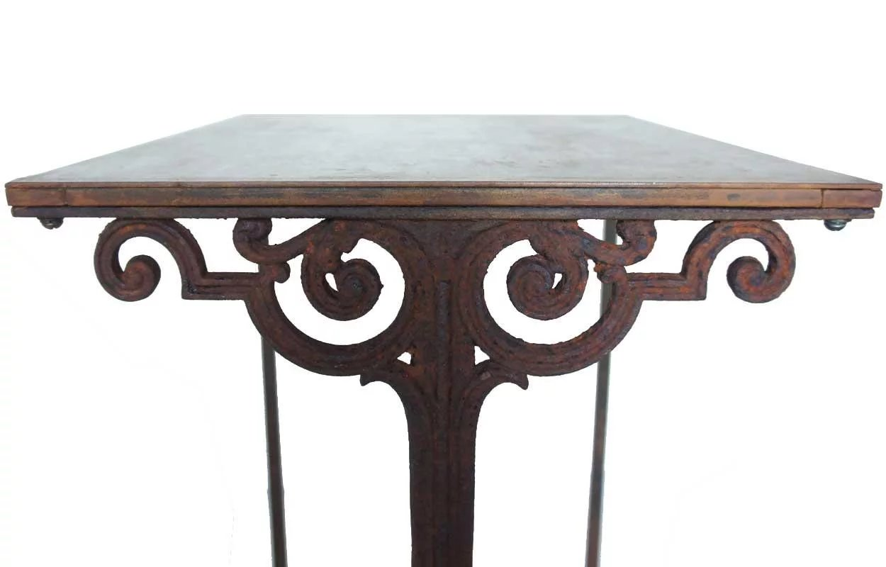 French Cast Iron And Steel Top Side Table Eron Johnson