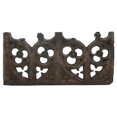 English 1500s Gothic Oak Architectural Tracery Panel