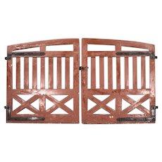 Antique Pair of Danish Heavy Pine Garden Gates