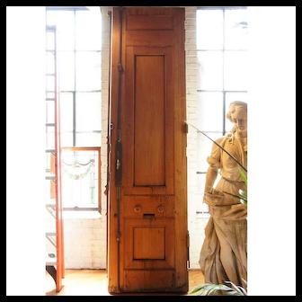 Grand Italian Style Renaissance Revival Carved Mahogany Double Door