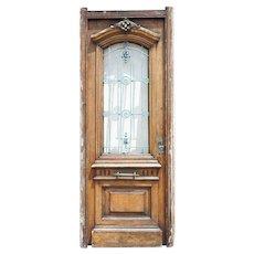 Argentine Cedar Mahogany and Iron Grille Single Door
