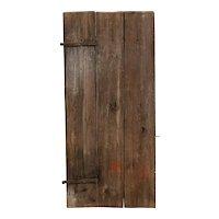 Small Swedish Allmoge Iron Mounted Pine Plank Single Door