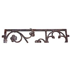 English Gothic Revival Cast Iron Half Grille