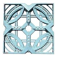 American John deKoven Hill Reticulated Aluminum Modular Fence Panel