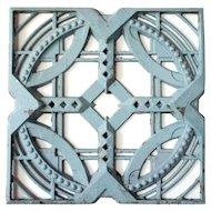 American John deKoven Hill Reticulated Blue Painted Aluminum Modular Panel