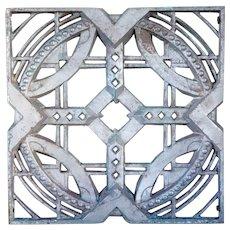 American John deKoven Hill Stripped Aluminum Modular Panel