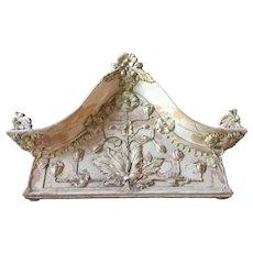 Continental H. Ehlers & Co. Architectural Terracotta Pediment