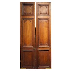Large French Oak Panelled Double Door