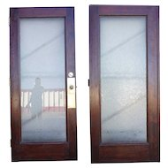 American Glue Chip Glass Double Door