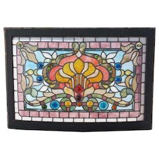 American Boettcher Mansion Stained and Leaded Glass Curved Window