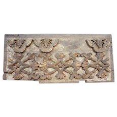 Indo-Portuguese Baroque Painted Teak Architectural Altar Panel
