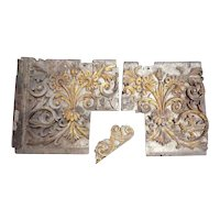 Two Indo-Portuguese Baroque Painted Teak Architectural Altar Panels