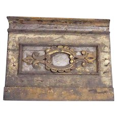 Indo-Portuguese Baroque Painted Teak Architectural Altar Panel