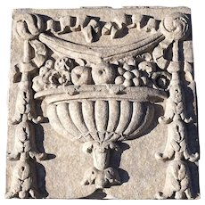 American Terracotta Architectural Building Fruit and Urn Relief Panel