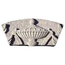 American Terracotta Architectural Building Urn Panel Fragment