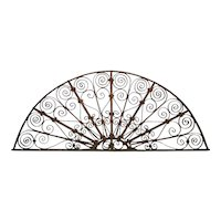 Spanish Wrought Iron Arched Transom Grille