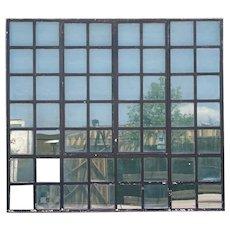 Large Vintage Industrial Heavy Iron Frame Casement Window