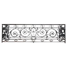Fine French Beaux-Arts Heavy Wrought Iron Balcony