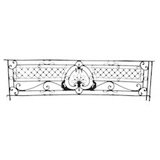 French Beaux-Arts Wrought Iron Bowfront Balcony