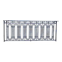 Fine French Art Deco Blue Painted Wrought Iron Balcony