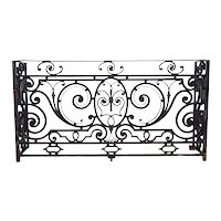 French Beaux-Arts Thick Wrought Iron Balcony