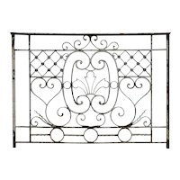 Small French Beaux-Arts Painted Wrought Iron Balcony