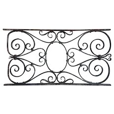 French Wrought Iron Architectural Grille Panel